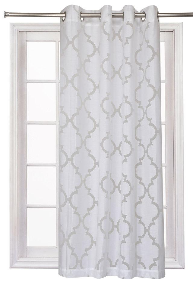 Bruno Sheer Self Printed Window Curtain