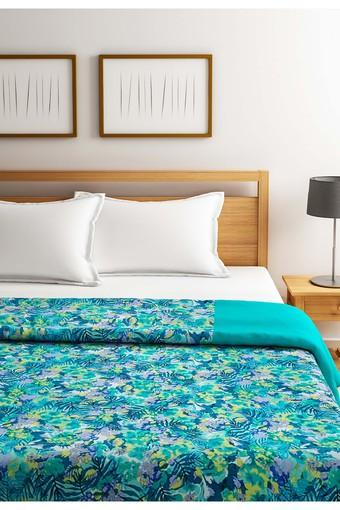 Green and Yellow Floral Single AC Comfortor