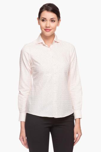 Womens Collared Neck Printed Shirt