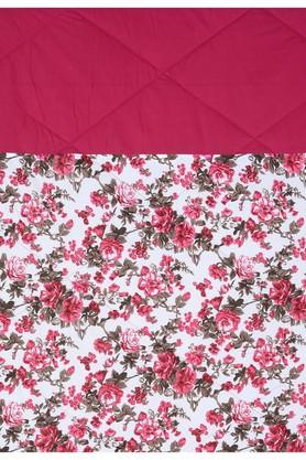 Magenta and Off White Floral Single AC Comfortor