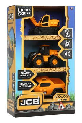 Kids JCB Light and Sound Truck Toy - Set of 3