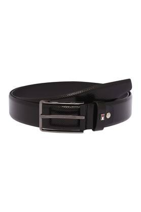 1130262dfd7 X TOMMY HILFIGER Mens Leather Buckle Closure Formal Belt