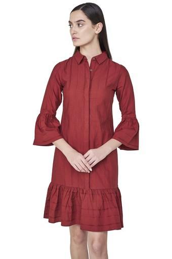 Womens Striped Drop Waist Dress
