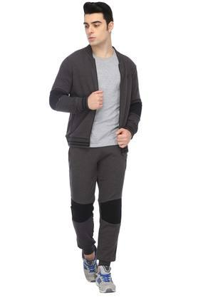 Mens Regular Fit Slub Jacket