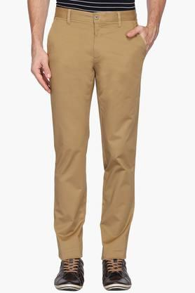 LOUIS PHILIPPE SPORTSMens 4 Pocket Solid Chinos - 203146874