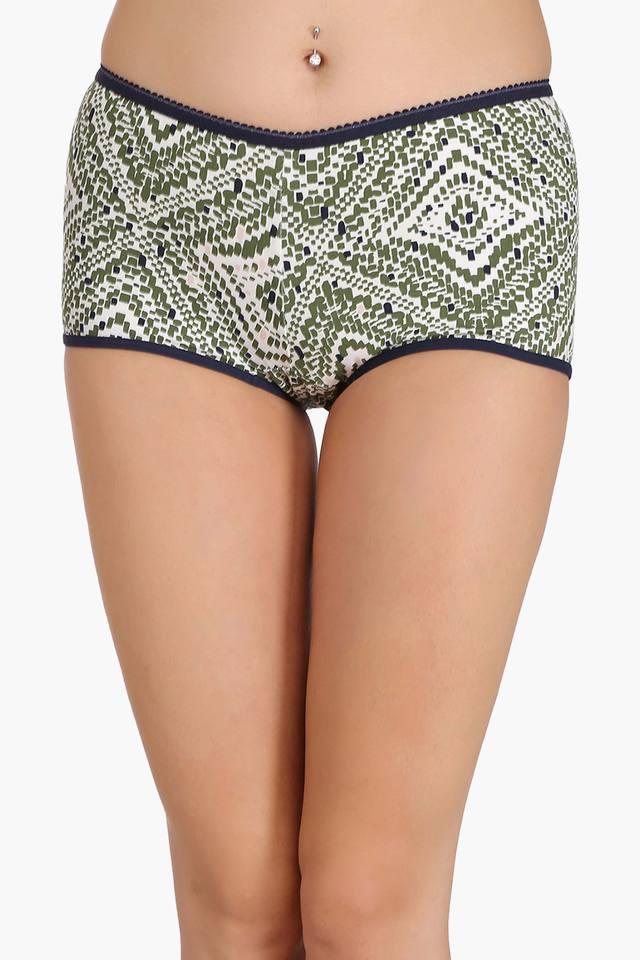 Womens High Waist Printed Boy Shorts