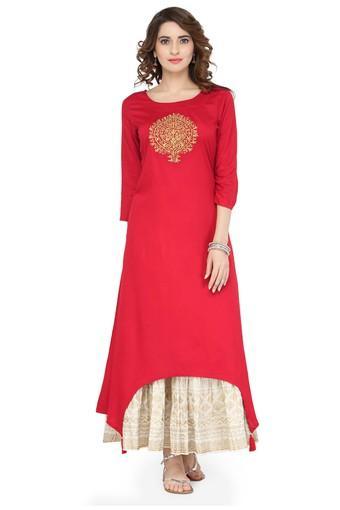 VARANGA -  C080 RedSalwar & Churidar Suits - Main