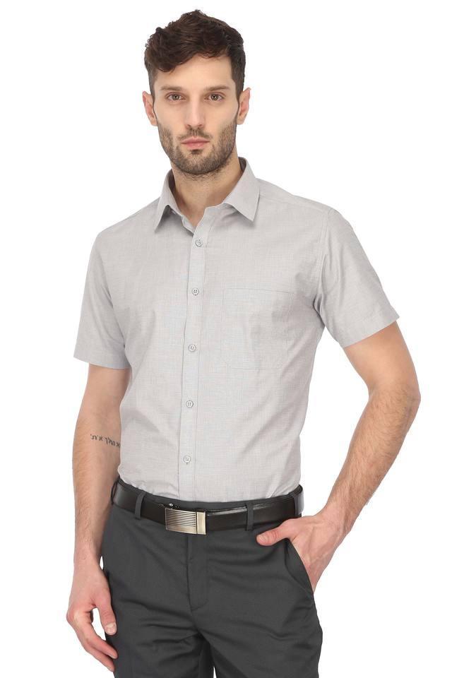 STOP - GreyFormal Shirts - Main