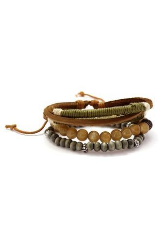 Mens Multicolor Leather Bracelet