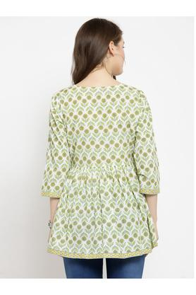 Womens Surplice Neck Printed Tunic