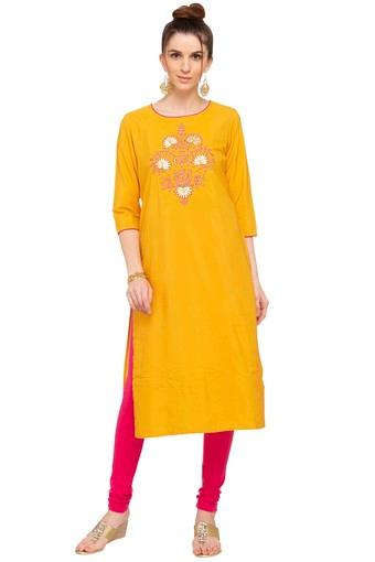 KASHISH -  Yellow Kurtas - Main