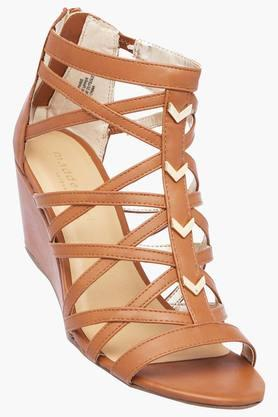 STEVE MADDEN Womens Party Wear Zipper Closure Wedges