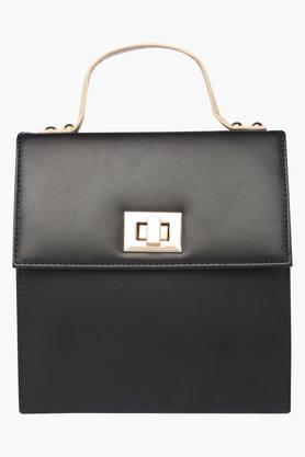 ELLIZA DONATEINWomens Casual Wear Metallic Lock Closure Slingbag