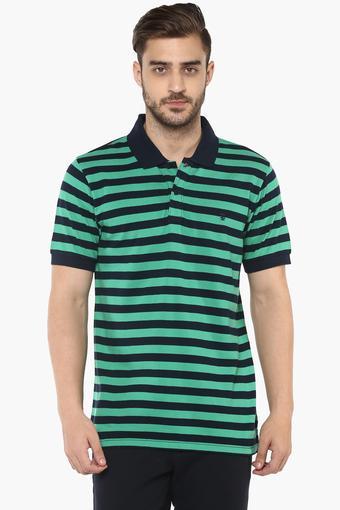 1b75fc365d Buy IZOD Mens Striped Polo T-Shirt | Shoppers Stop