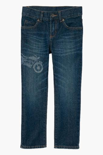 Boys 5 Pocket Solid Jeans