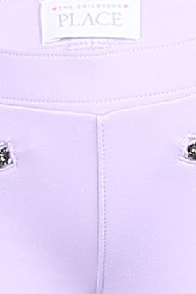 Girls 2 Pocket Solid Jeggings