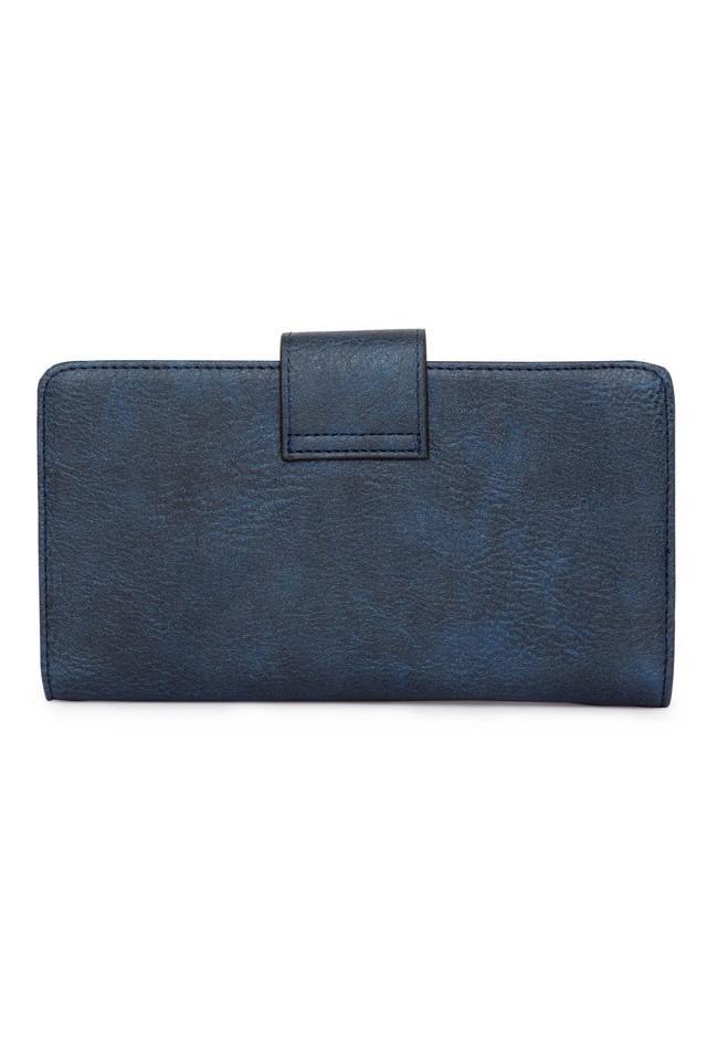 Womens Button Closure 1 Fold Wallet