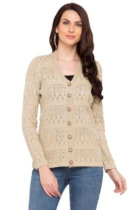 APSLEY Womens V Neck Knitted Cardigan