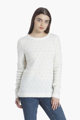 VERO MODA Womens Round Neck Printed Sweater