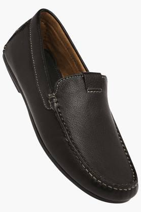 VENTURINI Mens Leather Slipon Loafers - 203017978