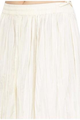 Women wrinkled mid-rise skirt