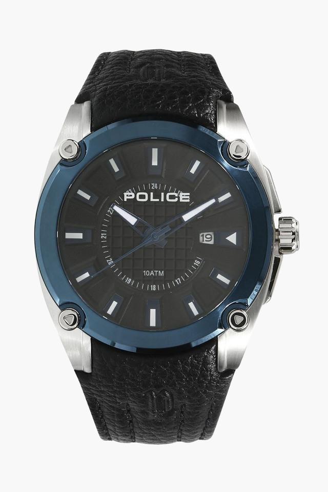 Mens Analogue Leather Watch - PL13891JSTBL02