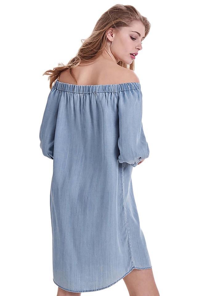 Womens Off Shoulder Assorted Shift Dress