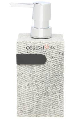 Alvina Stone Finish Textured Rectangular Soap Dispenser