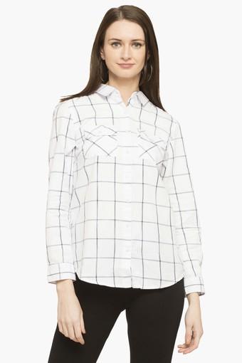 Womens Collared Check Shirt