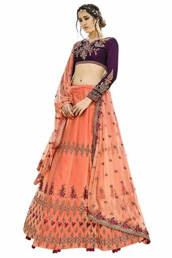 Womens Zari Work Lehenga Choli
