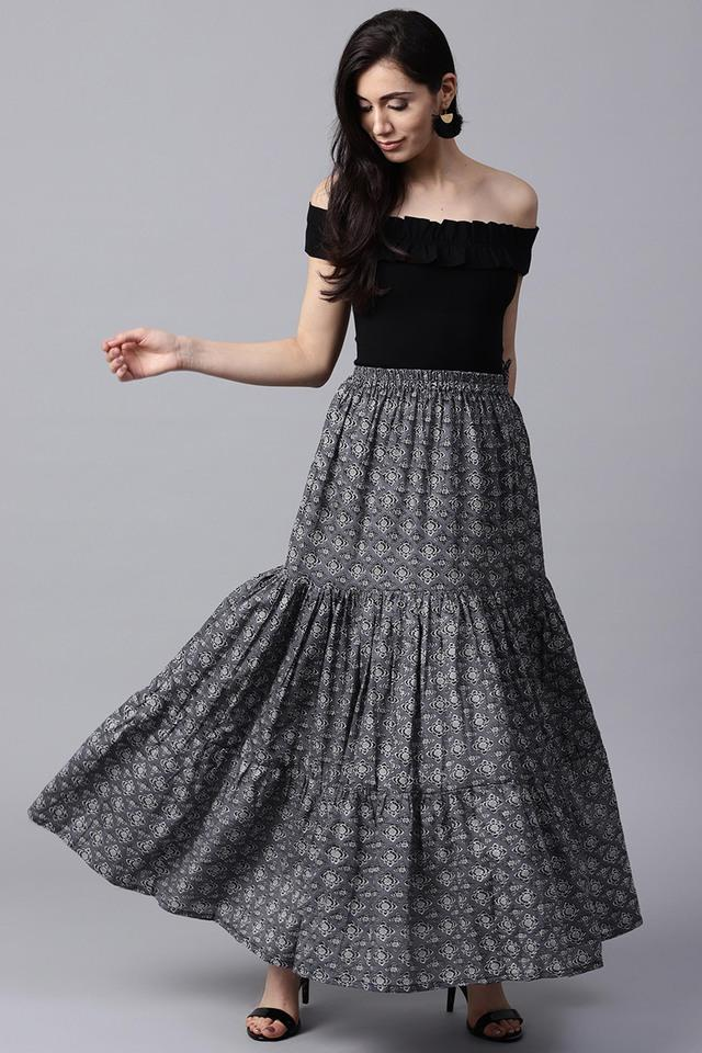 Women Cotton Ptinted Skirt