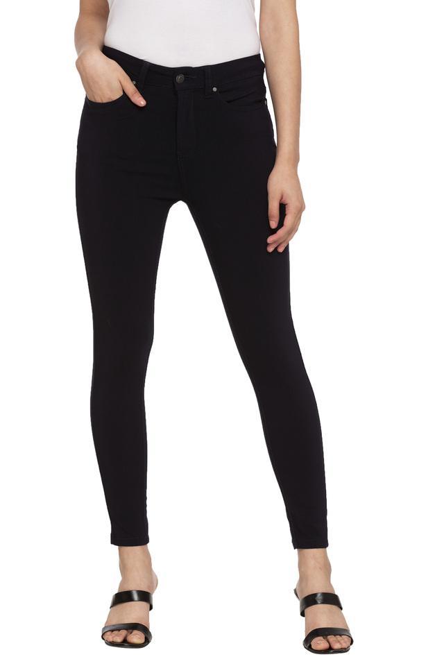 Womens 5 Pocket Solid Pants