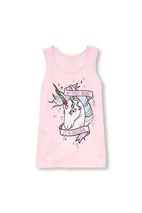 Girls Scoop Neck Printed Tank Top