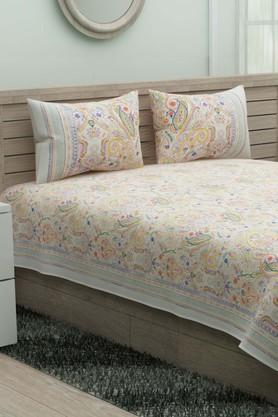 IVYPrinted Double Queen Bedsheet With 2 Pillow Covers