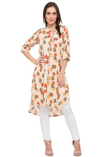Womens Mandarin Collar Printed Tunic