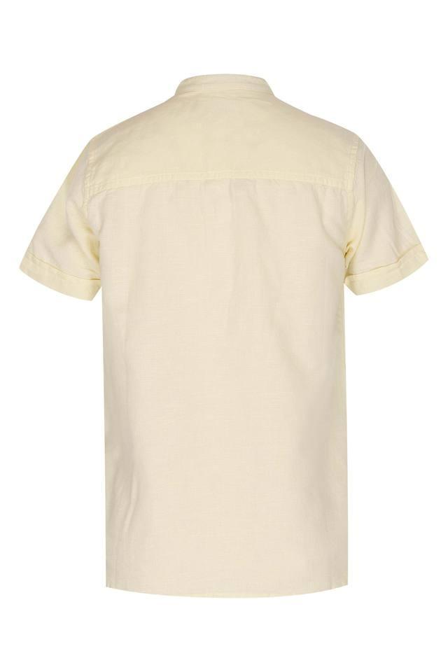 Kids Band Neck Solid Shirt