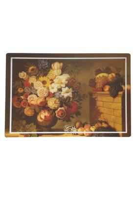 Rectangular Floral Printed Table Mat