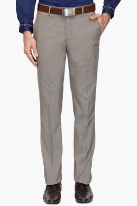LOUIS PHILIPPE Mens 4 Pocket Slub Formal Trousers