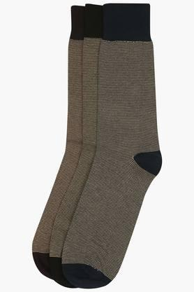 STOP Mens Stripe Socks Pack Of 3 - 9813055_9900