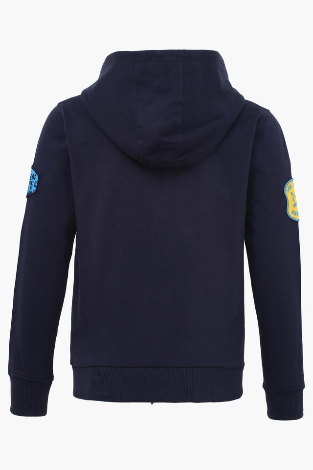 Boys Hooded Neck Graphic Print Sweatshirt