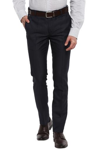 Mens 4 Pocket Solid Formal Trousers