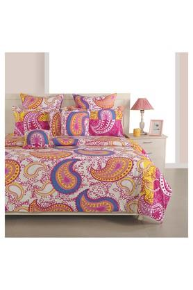 SWAYAMPrinted Double Bed Sheet, Comforter And Pillow Covers Set - 204584132_9568