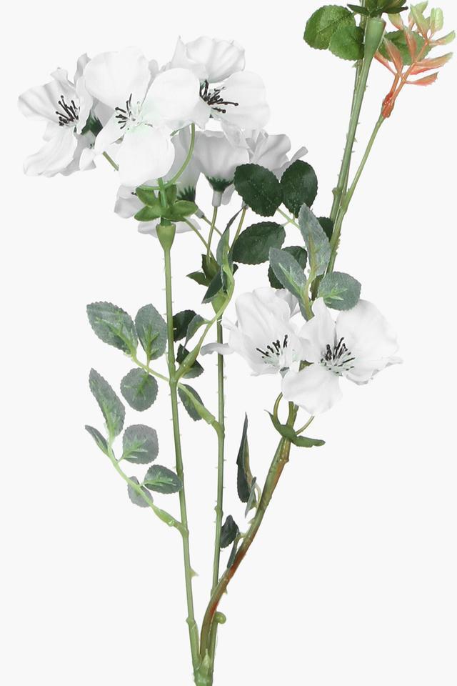White Artificial Flower Stem