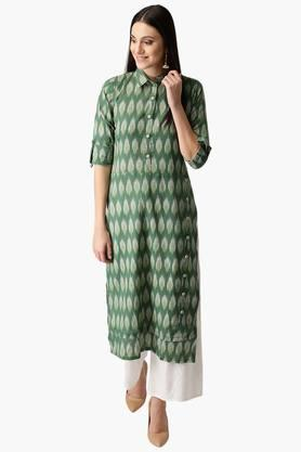 LIBAS Womens Cotton Printed Straight Kurta