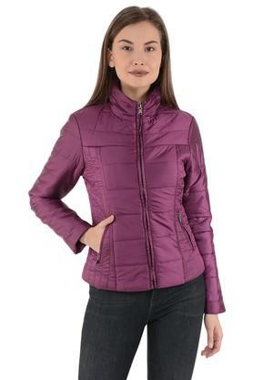 GIPSYWomens Zip Through Neck Solid Jacket