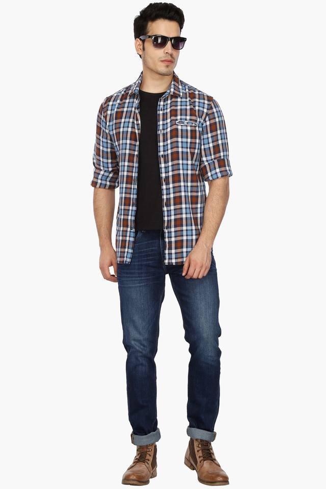 Mens Slim Fit Mild Wash Jeans (Brandon Fit)