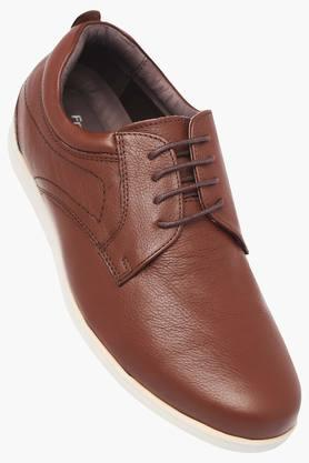 FRANCO LEONE Mens Leather Lace Up Shoes