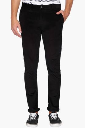 BLACKBERRYS Mens Slim Fit 4 Pocket Solid Chinos - 202744783