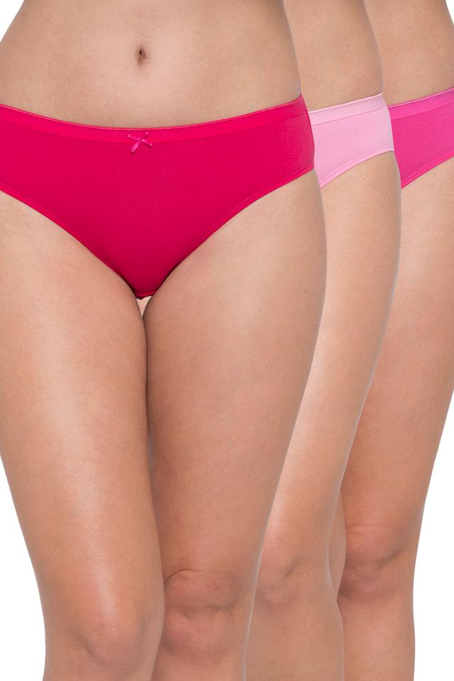 Womens Anti-Bacterial Solid Hipster Briefs - Pack of 3