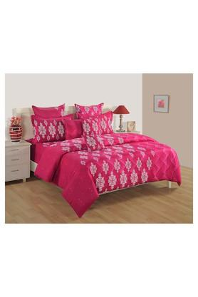SWAYAMPrinted Double Bed Sheet, Comforter And Pillow Covers Set - 204584164_9568